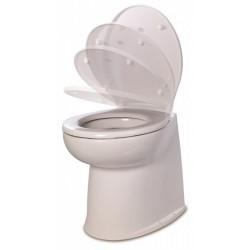 Jabsco De Luxe 17  elektr. toilet 12V, recht met solenoid, soft closing