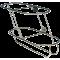 allpa RVS Fenderhouder, schuin model voor 2 stootwillen (links), (Majoni 3)