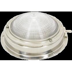 allpa Messing Kajuitlamp met geribde lens, 12V -15W, A=140mm, B=98mm, met ventilatie & schakelaar