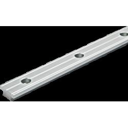 Antal Aluminium T-rail 32x6, gatmaat Ø6mm, gatafstand 100mm (zilver geanodiseerd)
