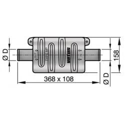 Vetus kunststof demper type MP50