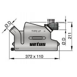 Waterlock kunststof LP50 draaibaar