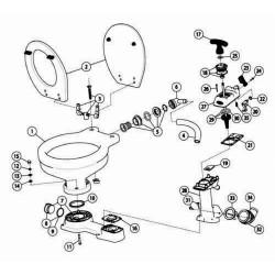 Jabsco Handtoilet Handpomp Compleet Kit B
