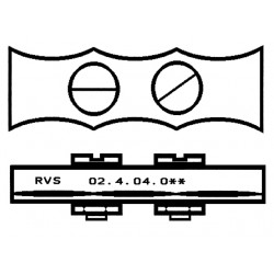 RVS STAALDR.KLEM 5MM PLAT