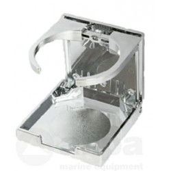 allpa Kunststof drankhouder, klapbaar, A=104mm, B=98mm, C=94mm, verchroomd