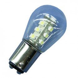 1 LED BAy15D 8-30V LED IN GLAS ROOD