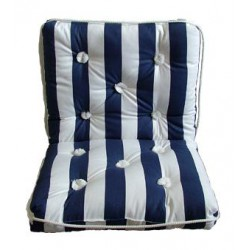 Marine cushion-double-BLUE-STRIPED