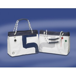 Sea Wave - Boodschappentas, met touw-hengsels - Wit - Rood - 42x17x36 cm