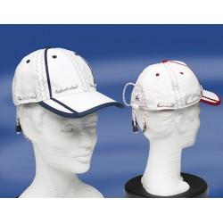 Baseballcap - Sailorscap met beschermklem - Wit - Rood -