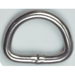 D-Ring RVS gelast 25mm x 5mm