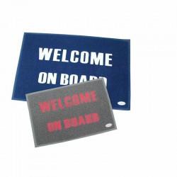 MAT  WELCOME  BLAUW 60 X 90CM