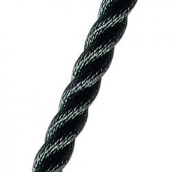 3-Strengs Polyester 10 mm. Zwart