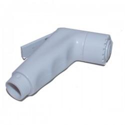 Handdouche kort ABS wit